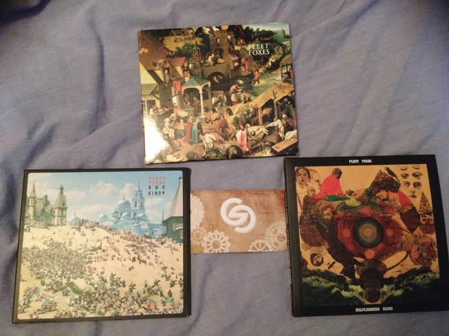 My Fleet Foxes collection including Sun Giant - Fleet Foxes - Helplessness Blues.