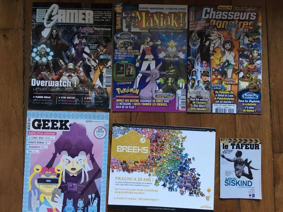 muttpop geek le mag progamer magazine chasseurs de monstres magazine maniak magazine tafeur magazine breeks magazine