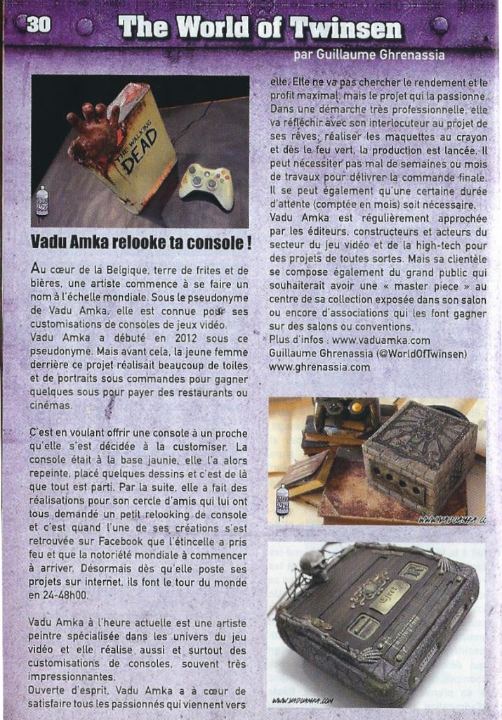 Tafeur magazine 60 Vadu Amka www.ghrenassia.com guillaume ghrenassia